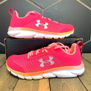 Youth Under Armour Assert 8 Pink White Trainer